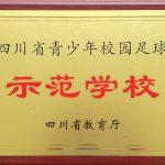 """【喜报】热烈祝贺我校荣获""""四川省青少年校园足球示范学校""""称号"""