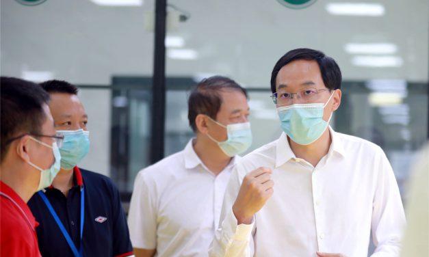 邓强县长一行检查我校秋季开学和疫情防控工作